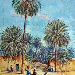 Palm Tree, Laghouat, Algeria, Acrylic on canvas. 40x60 cm
