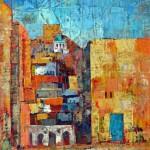 Views laghouat, Oil Painting on canvas. 22x30 cm