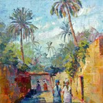 Biskra Oas, Oil Painting on canvas. 22x30 cm