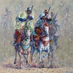 Horseman, Oil Painting on canvas. 40x40 cm