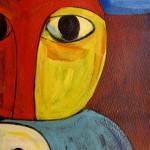 Memento, Acrylic on paper. 25 x 33 cm