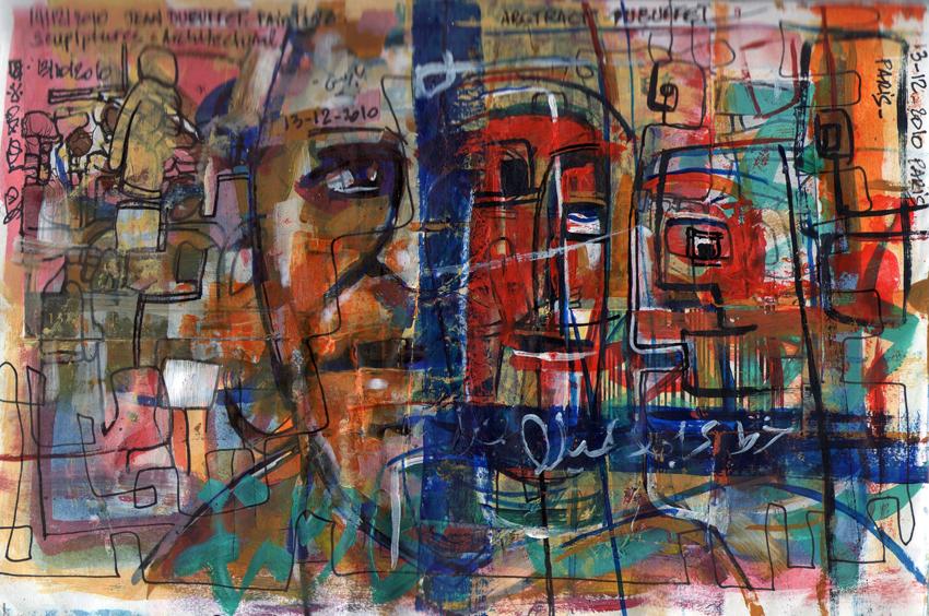 Abstract,Dubuffet,13-12-2010, Paris