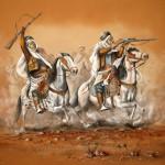 Arab Fantasia, Sand painting. 80x100 cm