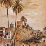 Algerian Landscape, Sand painting. 30x40 cm