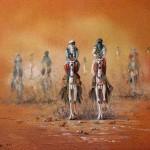 Tuareg, Sand painting. 40x50 cm