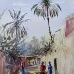 Street at Biskra, 27x41 cm