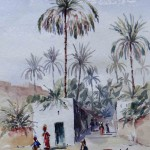 Oasis at Laghouat, 27x41 cm