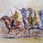 Arab Horsemen, 31x42 cm