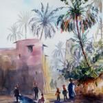Oasis of Biskra, 19x27 cm