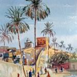 Street in Laghouat, 27x40 cm