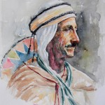 Man of Djebel Amour, 27x33 cm