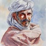 Arab portrait, 40x36 cm
